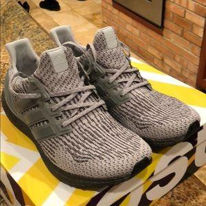 Adidas UltraBoost triple grey .Men's size 11.5 US